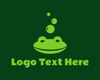 Frog - Sleepy Frog logo design