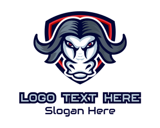 Playoffs - Buffalo Bull Mascot logo design