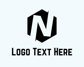 Letter N - Hexagon Letter N  logo design