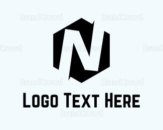 """Hexagonal Letter N "" by AzamKreatif"