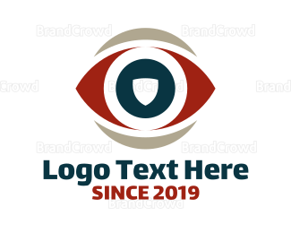 View - Eye Shield logo design