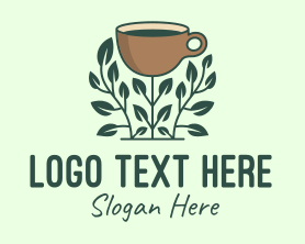 Coffee - Coffee Cup Plant logo design