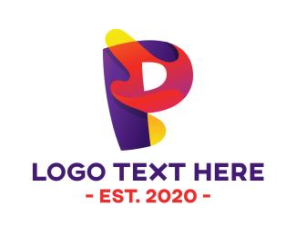 Alphabet - Artistic Bold Letter P logo design