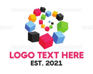 Exhibition - Box Spiral logo design