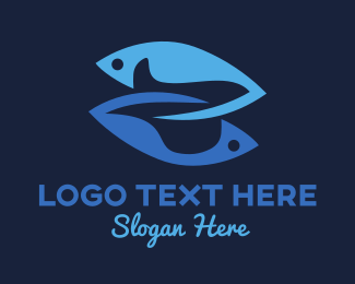 Fisheries - Two Fish logo design