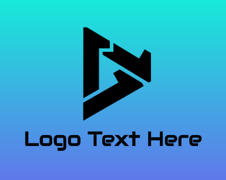 Movies - Triangle Number 1 logo design