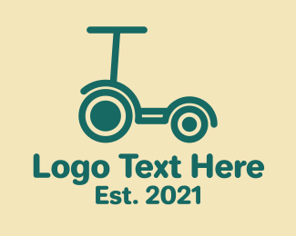 Kick - Green Kick Scooter  logo design