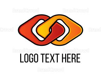 Chain - Diamonds Duo Connected logo design