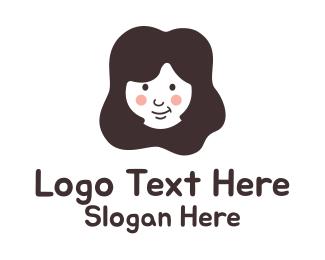Girl - Happy Girl  logo design