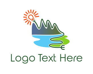 Green Mountain - Natural Energy Plug logo design