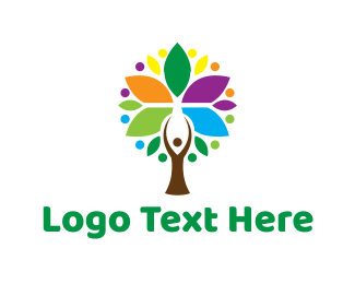 Support - Human Tree logo design