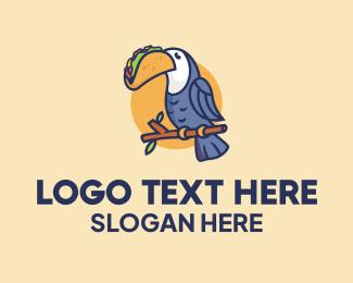 Food Shop - Toucan Taco Restaurant  logo design