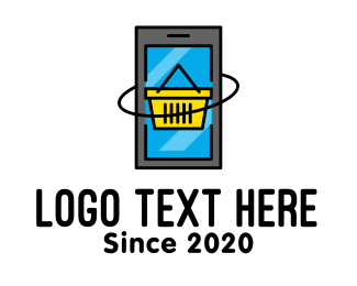 Mobile - Online Mobile Shopping Cart logo design