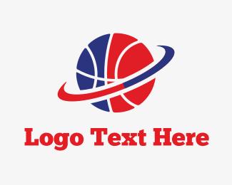 Sporting Goods - Basketball & Hoop logo design
