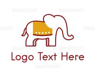 Elephant - Elephant Red logo design