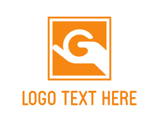 Orange Square - Letter G Sign logo design