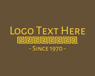 Vintage - Golden Medieval Text logo design