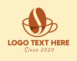 Espresso - Coffee Bean Cup Cafe logo design