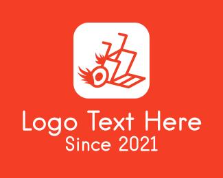Cargo - Burning Cargo Cart App logo design