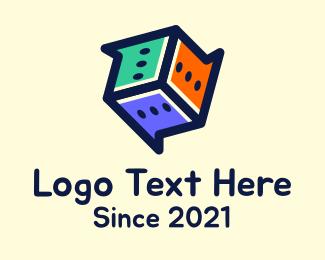 Dice - Multicolor Chat Dice logo design