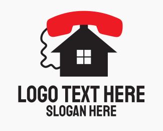 Caller - Phone Home Service logo design
