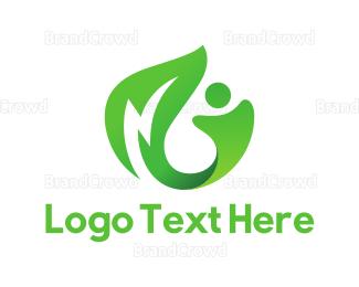 Human - Human Leaf logo design