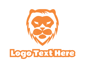 Safari - Abstract Lion Face logo design