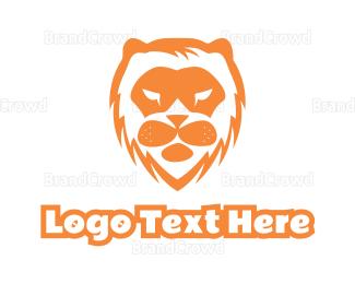Cub - Abstract Lion Face logo design