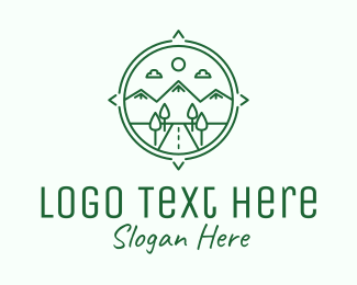 Explore - Green Mountain Compass logo design