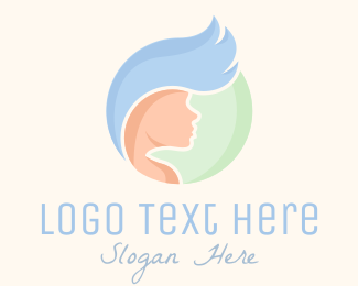 Hair Dye - Beauty Hair Stylist logo design