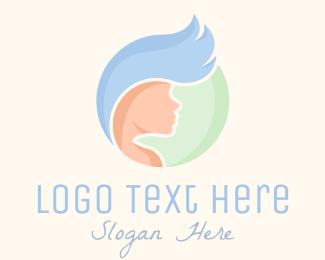 Wig Maker - Beauty Hair Stylist logo design