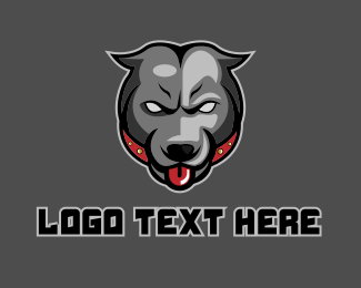 Tongue - Pit Bull Mascot logo design