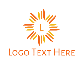 Weather - Orange Sun Stroke logo design