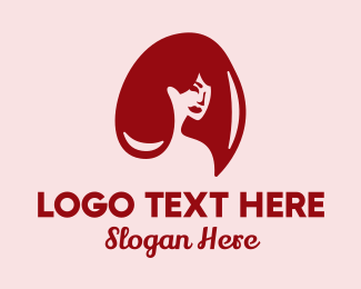 Hair Style - Red Hair Beauty logo design