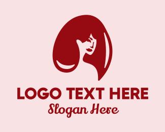 Shampoo - Red Hair Beauty logo design