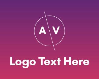Av - Modern AV Badge logo design