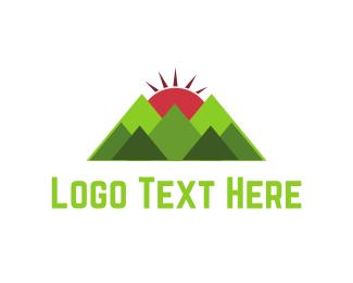 Mount - Sun & Mountains logo design
