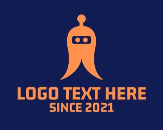 Gaming - Abstract Orange Robot logo design