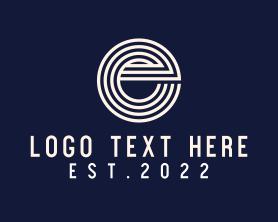 Social Media - Stripe Letter E logo design