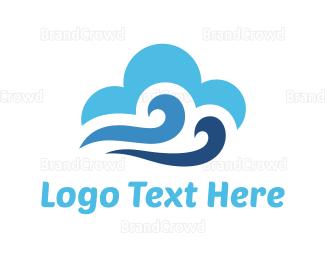Water - Windy Sky logo design