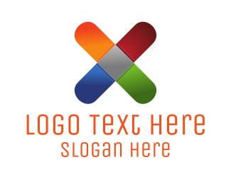 Letter X - Colorful X Letter logo design