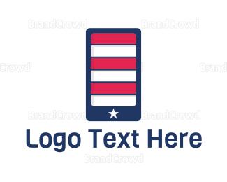 American Flag - American Application logo design
