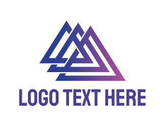 Real Estate - Triple Triangle Outline logo design