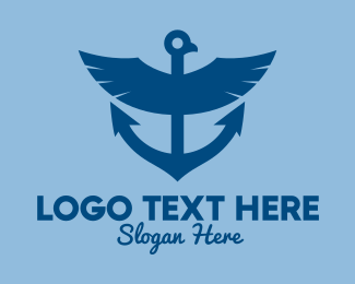 Boat Repair - Blue Eagle Anchor  logo design