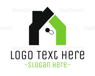 Book Store - Home Tag logo design