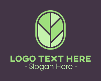 Tree Leaf Badge Logo