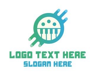 Electronic - Digital Piano Media logo design