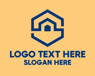 Warehouse - Hexagon Warehouse  logo design