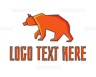 Predator - Orange Bear logo design
