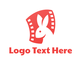 Pet Care - Rabbit Film logo design